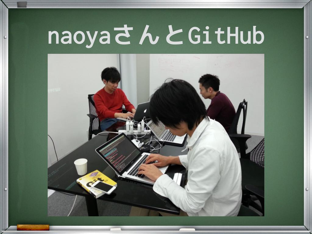 naoyaさんとGitHub