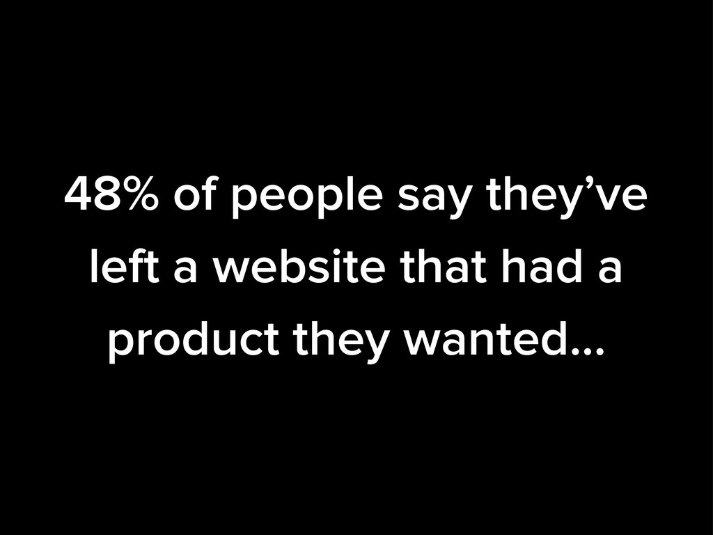 48% of people say they've left a website that h...