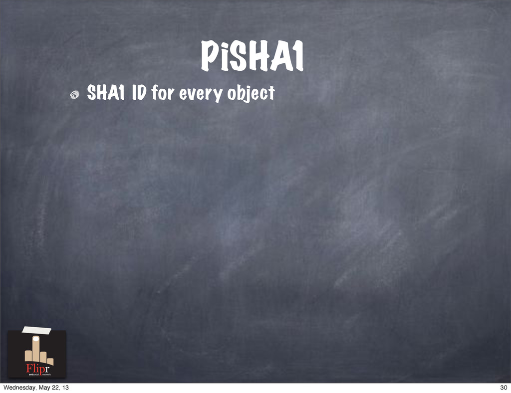 PiSHA1 SHA1 ID for every object antisocial netw...
