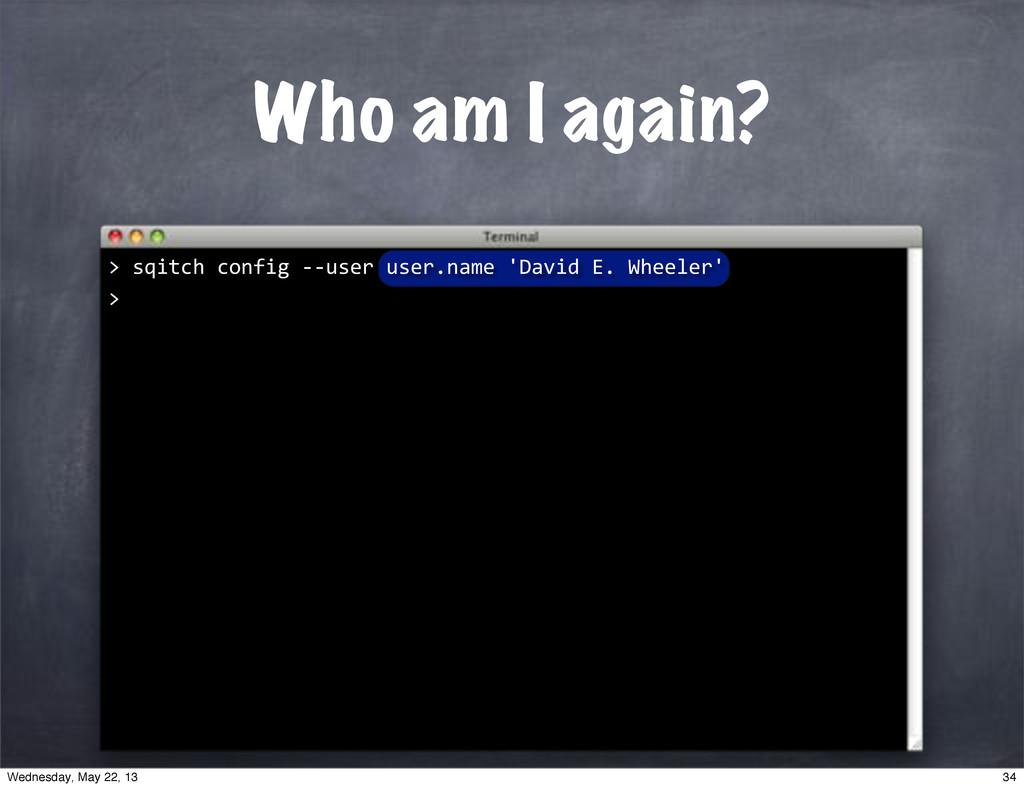 "Who am I again? """"sqitch""config""**user""user.nam..."