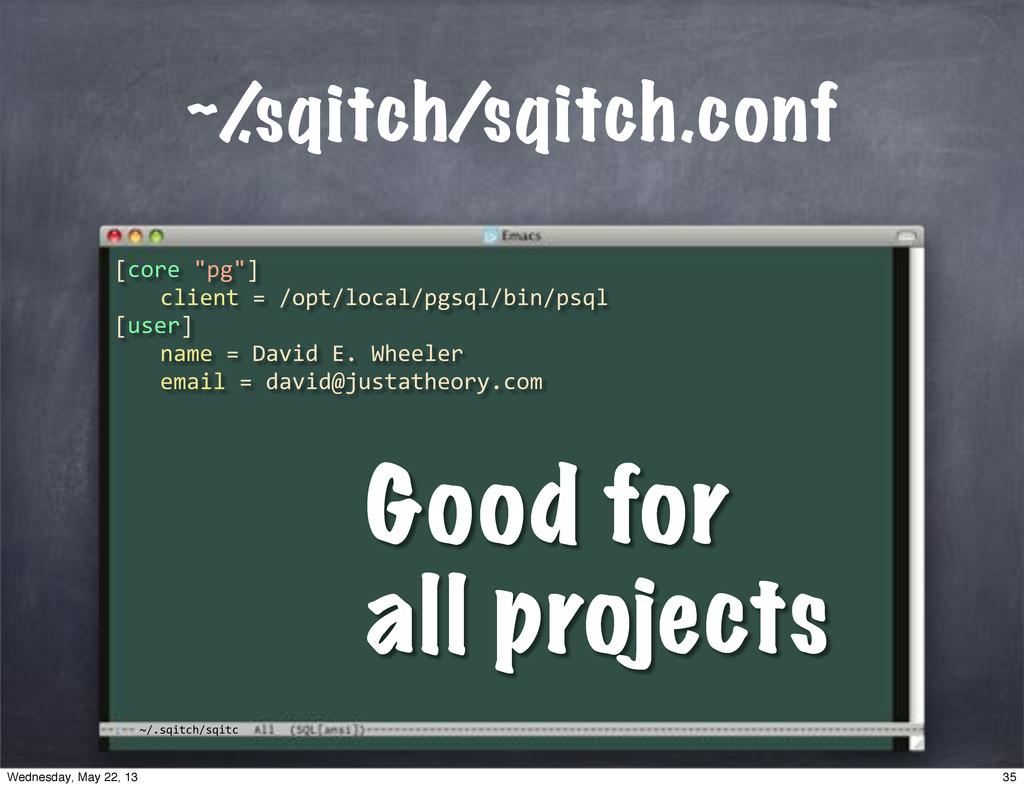 """~/.sqitch/sqitc ~/ .sqitch/sqitch.conf [core""""""""p..."""