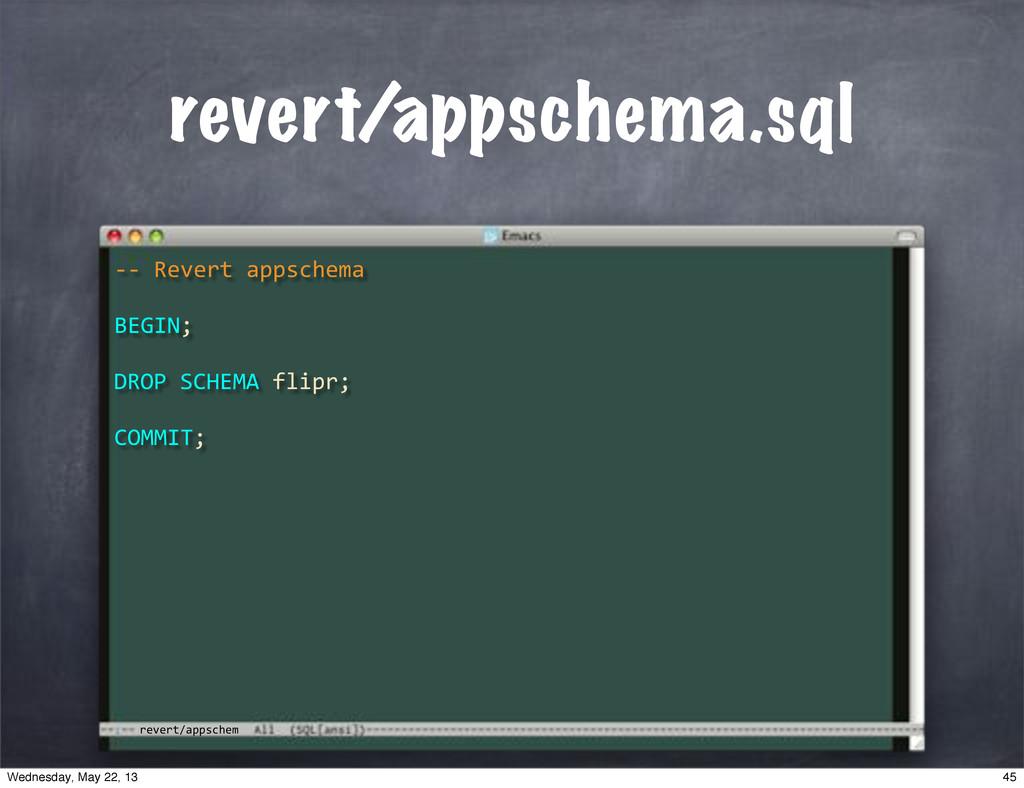 """revert/appschem revert/appschema.sql **""""Revert""""..."""