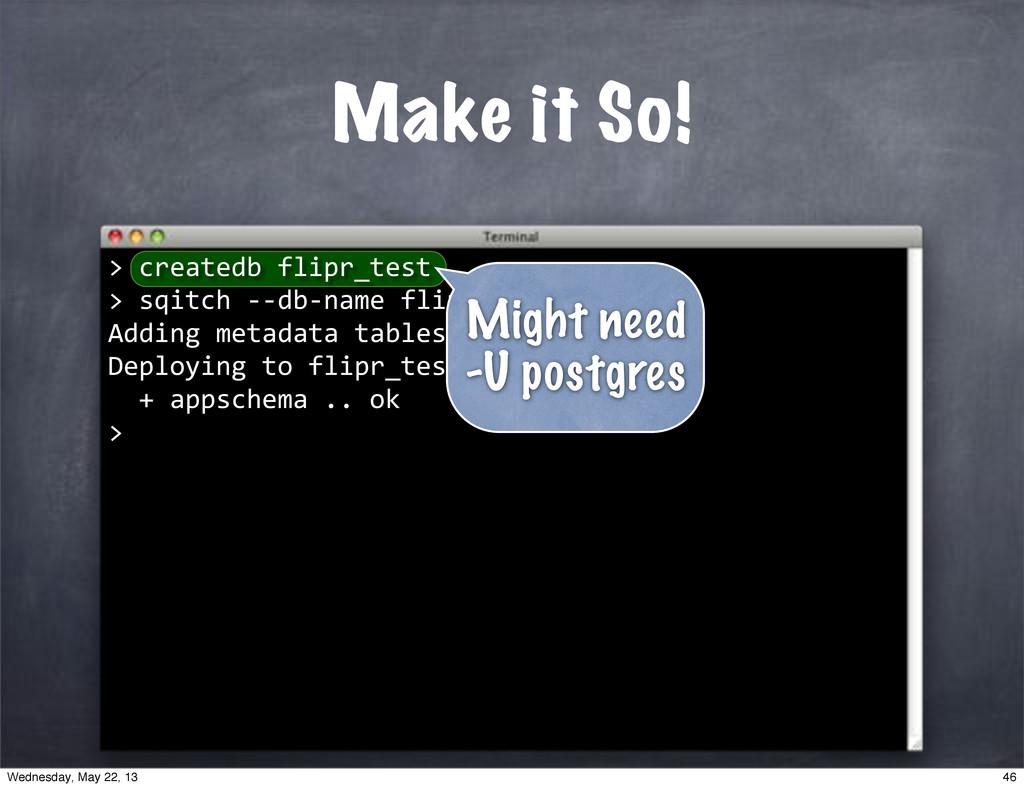 """""""""""createdb""""flipr_test >""""sqitch""""**db*name""""flipr_..."""