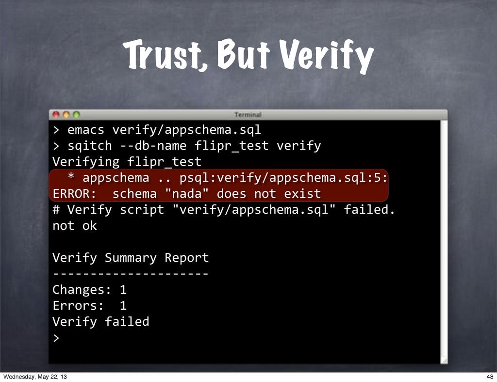 "Trust, But Verify > """"emacs""verify/appschema.sq..."