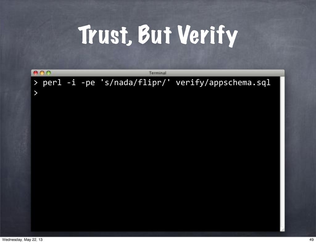 """""perl""*i""*pe""'s/nada/flipr/'""verify/appschema...."
