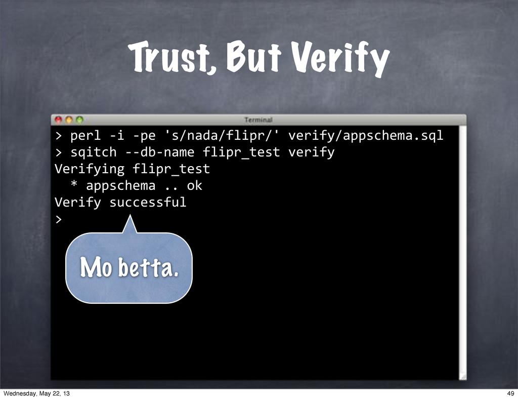 """""sqitch""**db*name""flipr_test""verify Verifying""..."