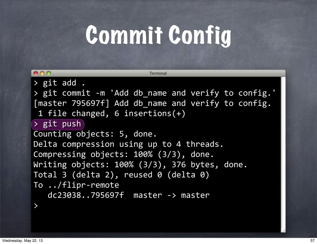 "Commit Config > """"git""push Counting""objects:""5,..."