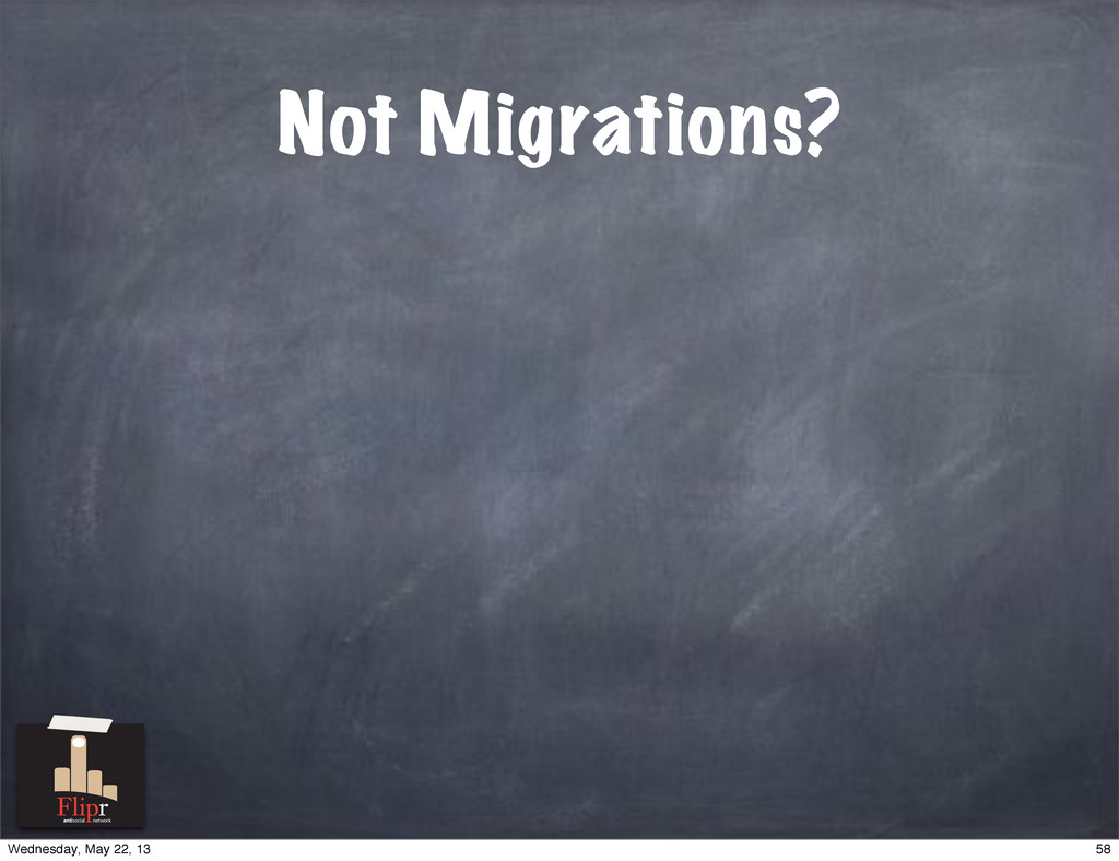 Not Migrations? antisocial network 58 Wednesday...