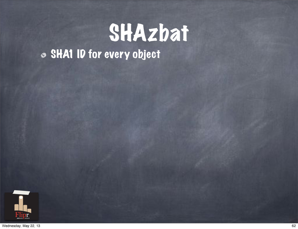 SHAzbat SHA1 ID for every object antisocial net...