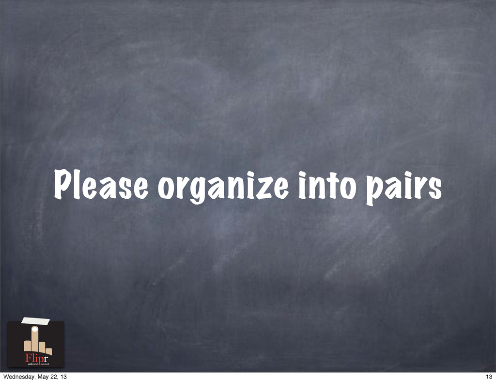 Please organize into pairs antisocial network 1...