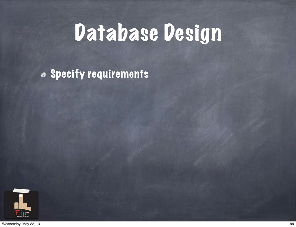 Database Design Specify requirements antisocial...
