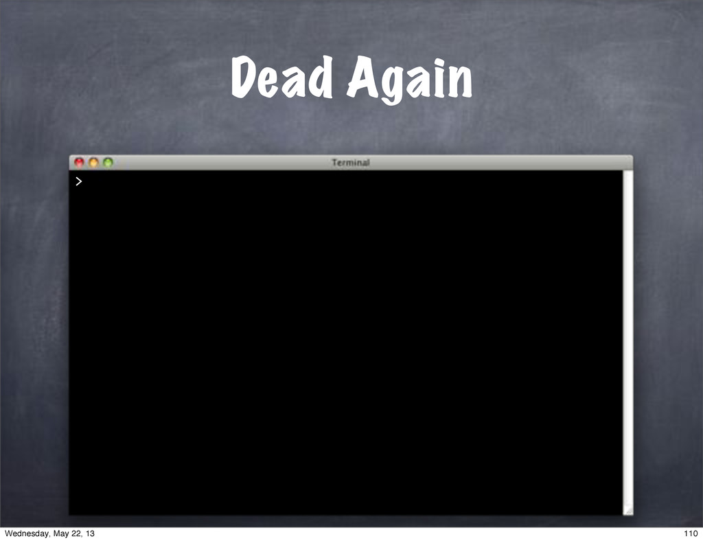 Dead Again > 110 Wednesday, May 22, 13
