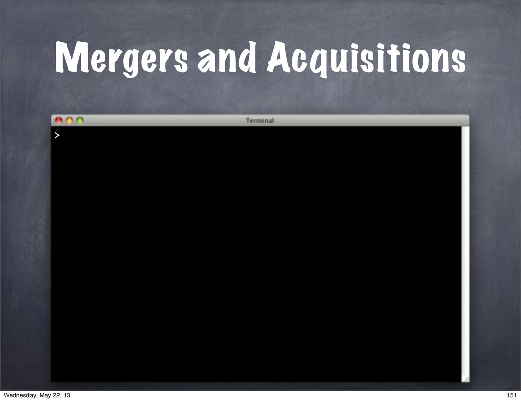 Mergers and Acquisitions > 151 Wednesday, May 2...