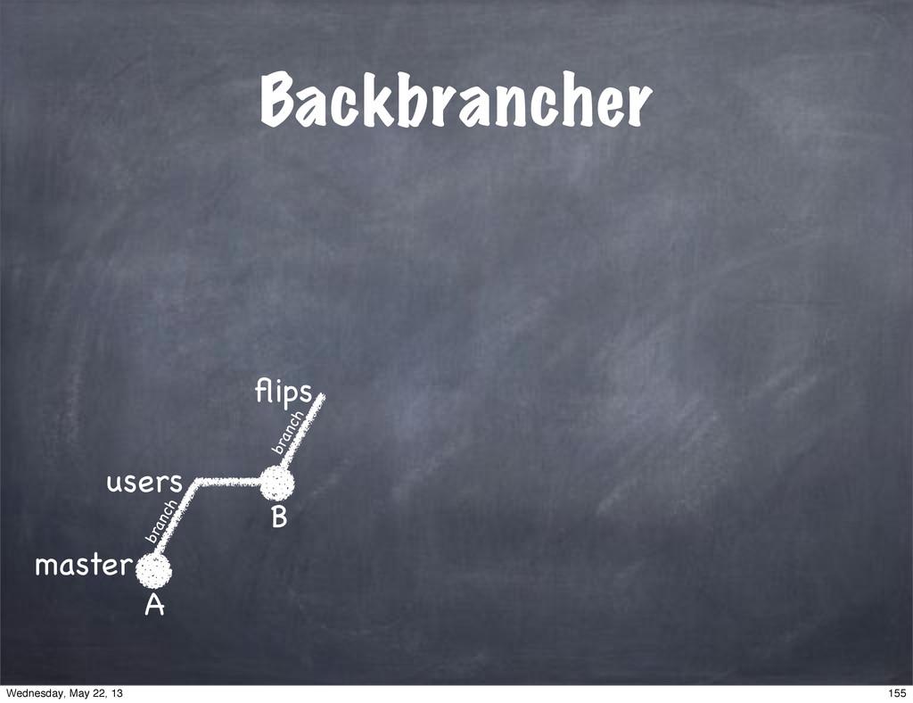 Backbrancher master users A B flips branch branc...