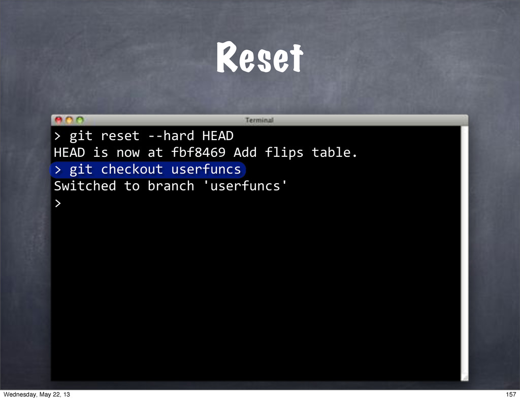 """""git""reset""**hard""HEAD HEAD""is""now""at""fbf8469""..."
