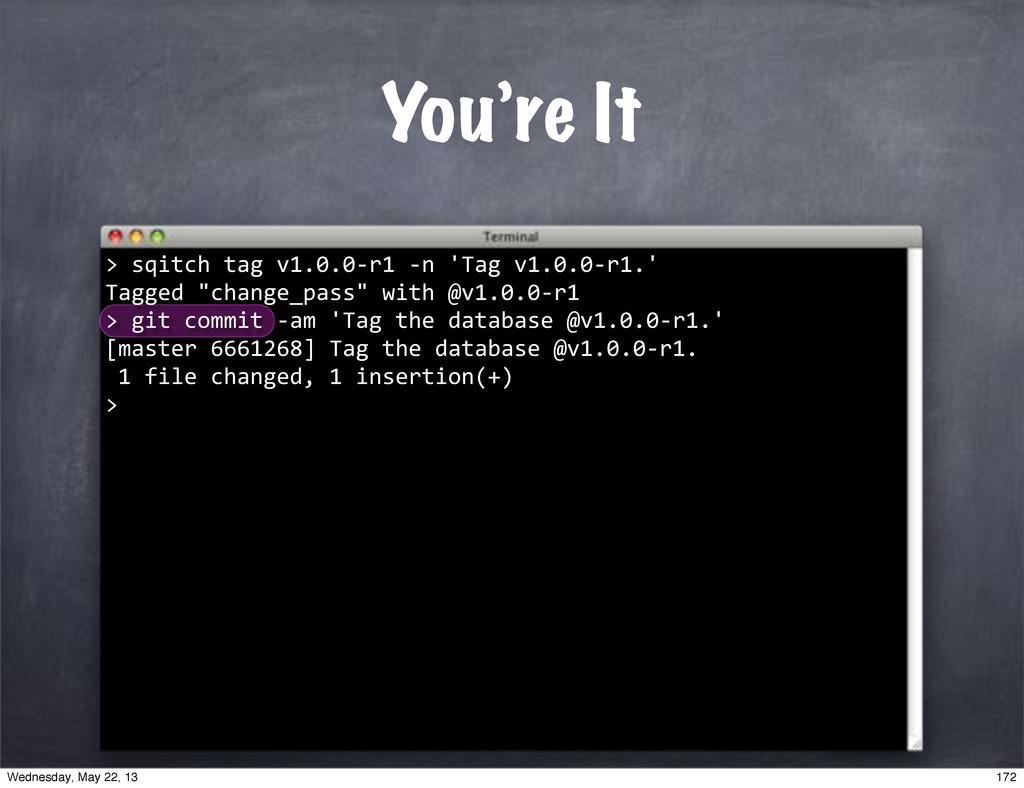 """""sqitch""tag""v1.0.0*r1""*n""'Tag""v1.0.0*r1.' Tagg..."