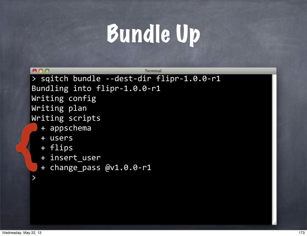 """""""""""sqitch""""bundle""""**dest*dir""""flipr*1.0.0*r1 Bundl..."""
