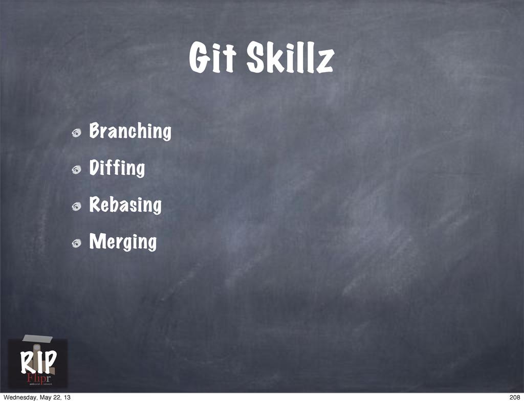 Git Skillz Branching Diffing Rebasing Merging a...