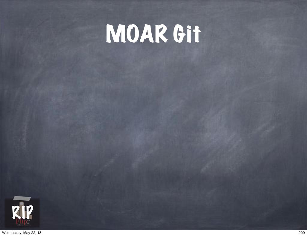 MOAR Git antisocial network RIP 209 Wednesday, ...