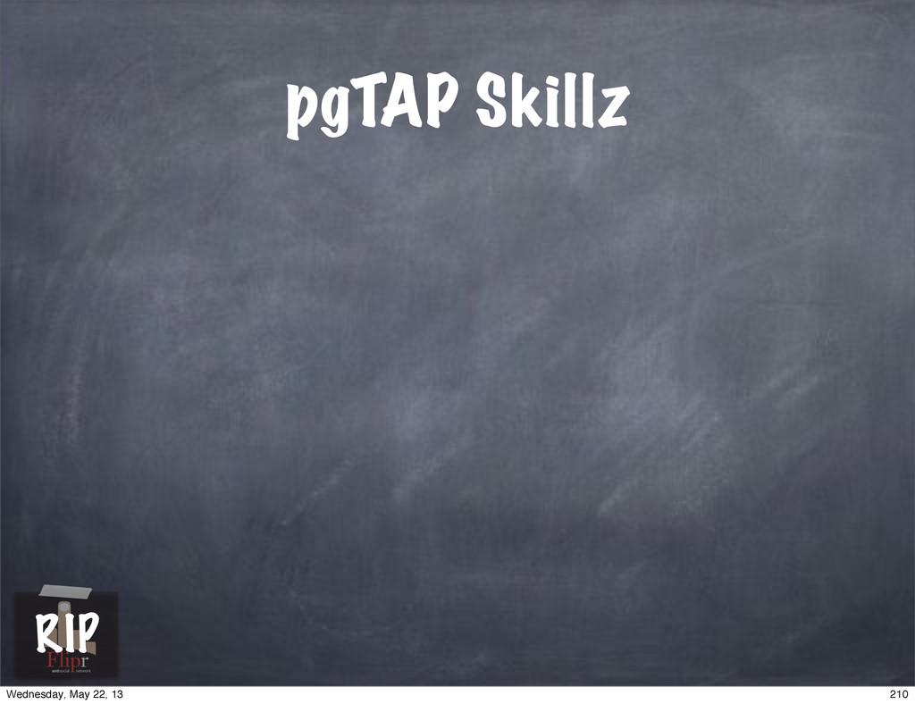 pgTAP Skillz antisocial network RIP 210 Wednesd...