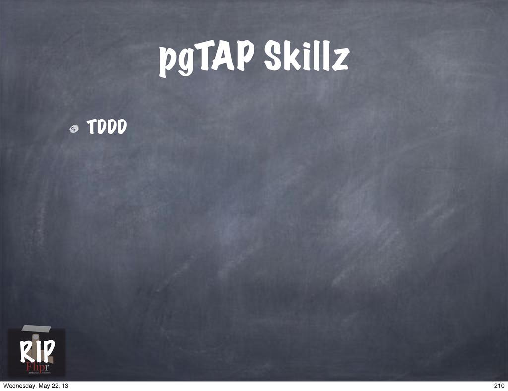 pgTAP Skillz TDDD antisocial network RIP 210 We...