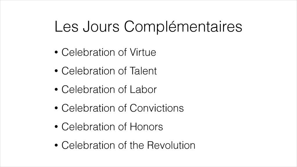 Les Jours Complémentaires • Celebration of Virt...