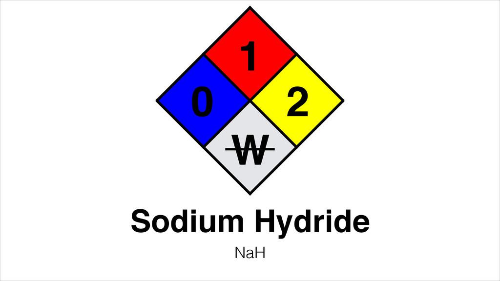 1 0 2 Sodium Hydride NaH W