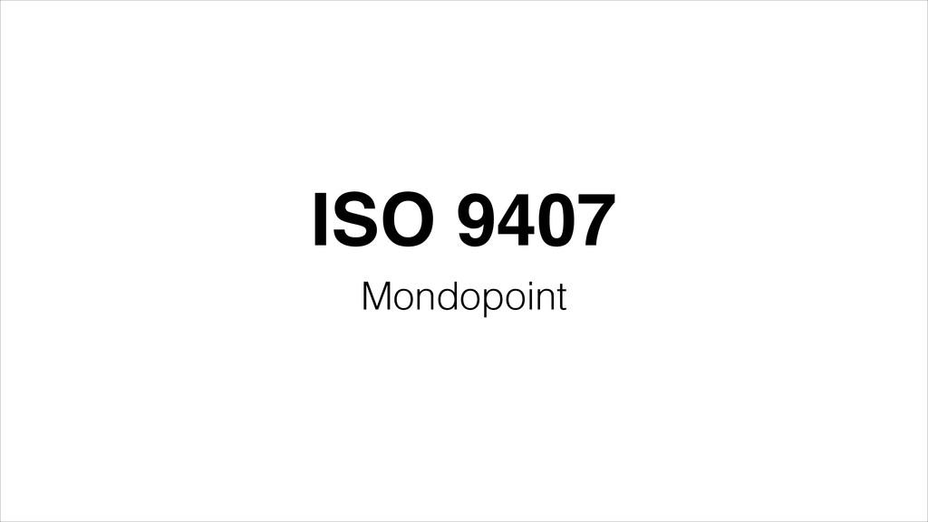 ISO 9407 Mondopoint