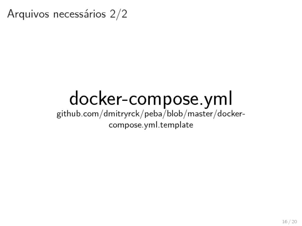 Arquivos necessários 2/2 docker-compose.yml git...