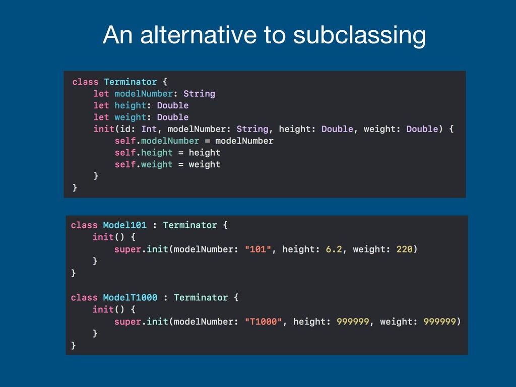 An alternative to subclassing