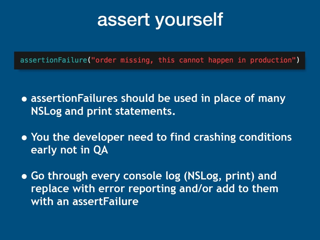 assert yourself • assertionFailures should be u...