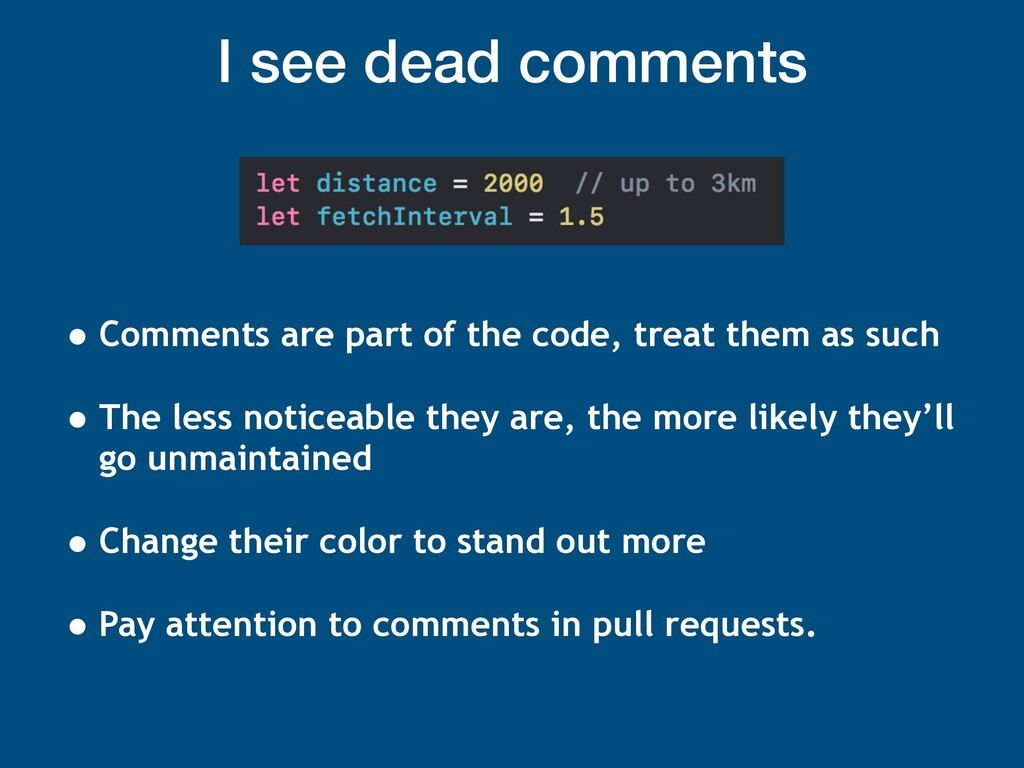 I see dead comments • Comments are part of the ...
