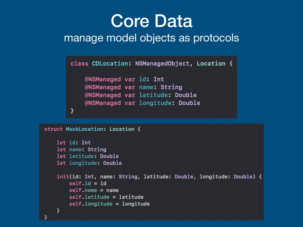 Core Data manage model objects as protocols