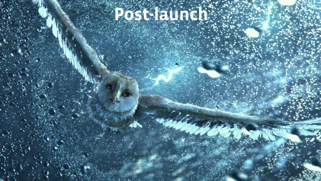 Post-launch