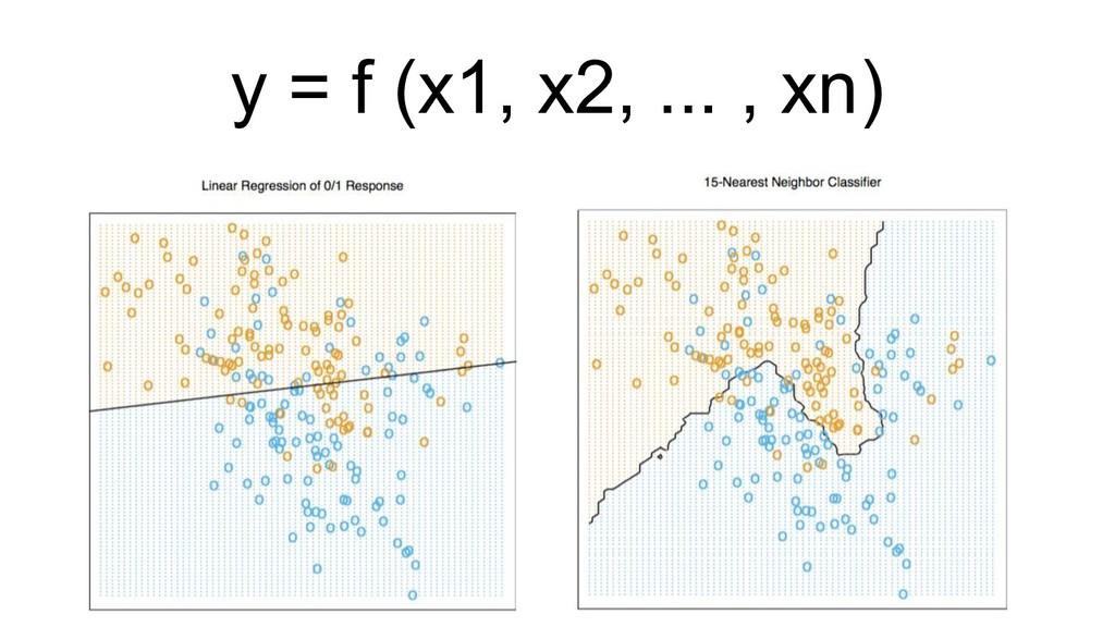 y = f (x1, x2, ... , xn)