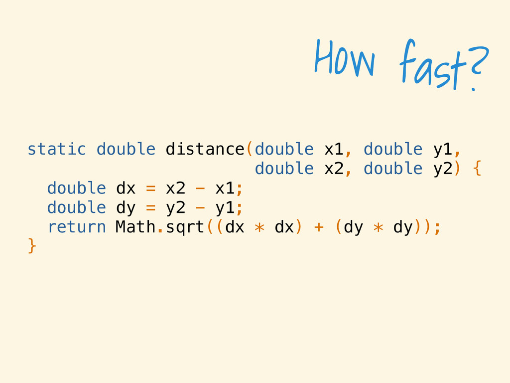 static double distance(double x1, double y1, do...