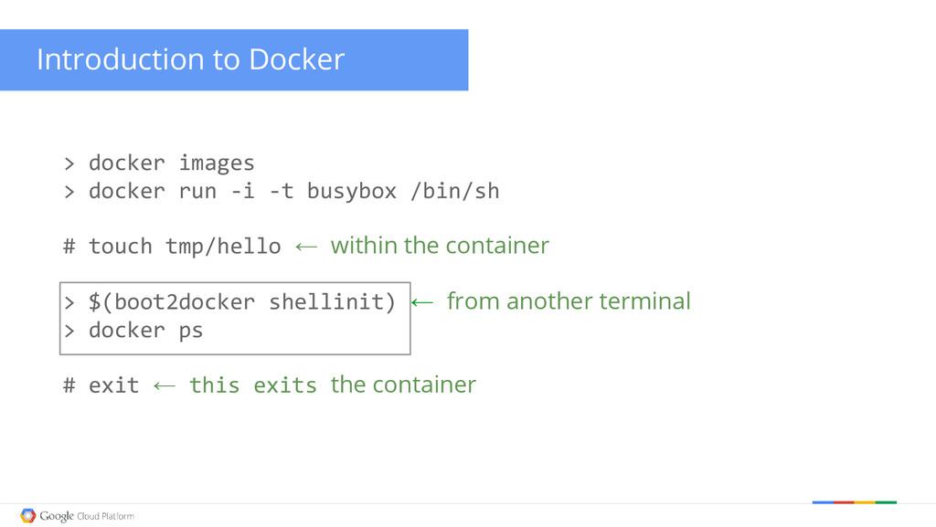 Introduction to Docker > docker images > docker...