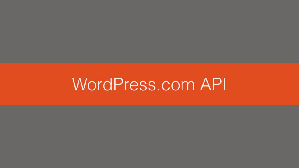 WordPress.com API