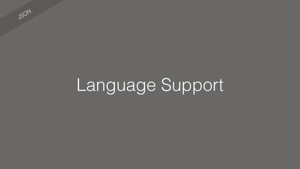 JSON Language Support