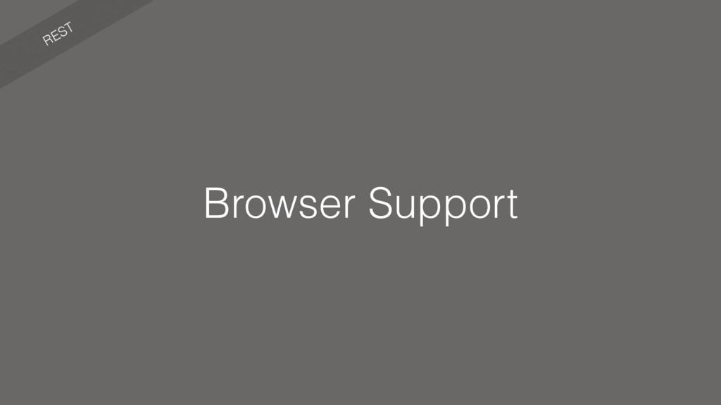 REST Browser Support