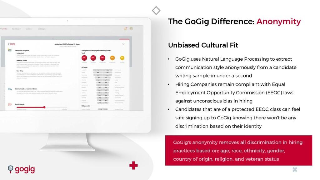 Unbiased Cultural Fit • GoGig uses Natural Lang...
