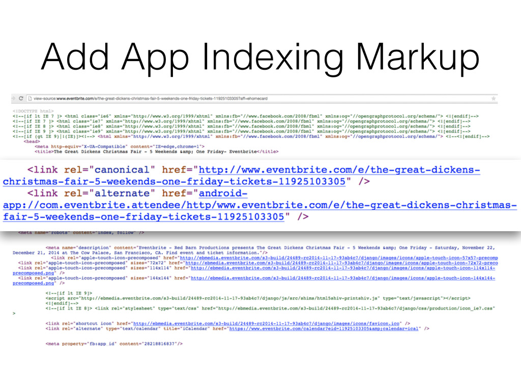Add App Indexing Markup