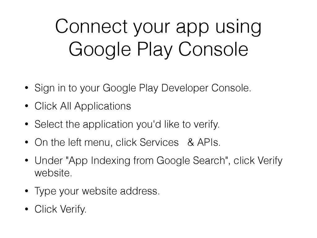 Connect your app using Google Play Console • Si...