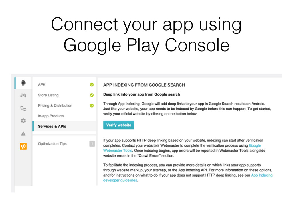Connect your app using Google Play Console