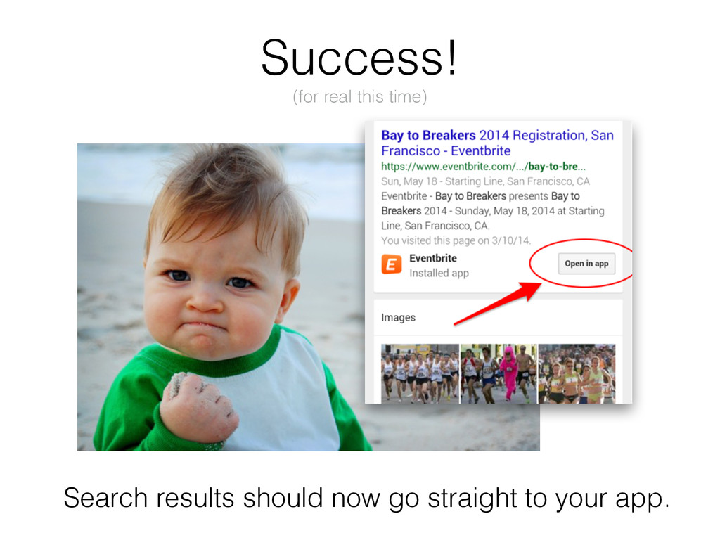 Search results should now go straight to your a...
