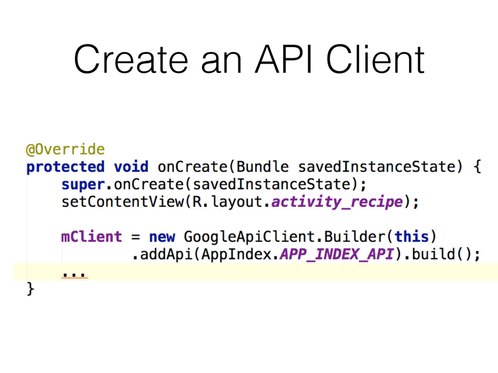 Create an API Client