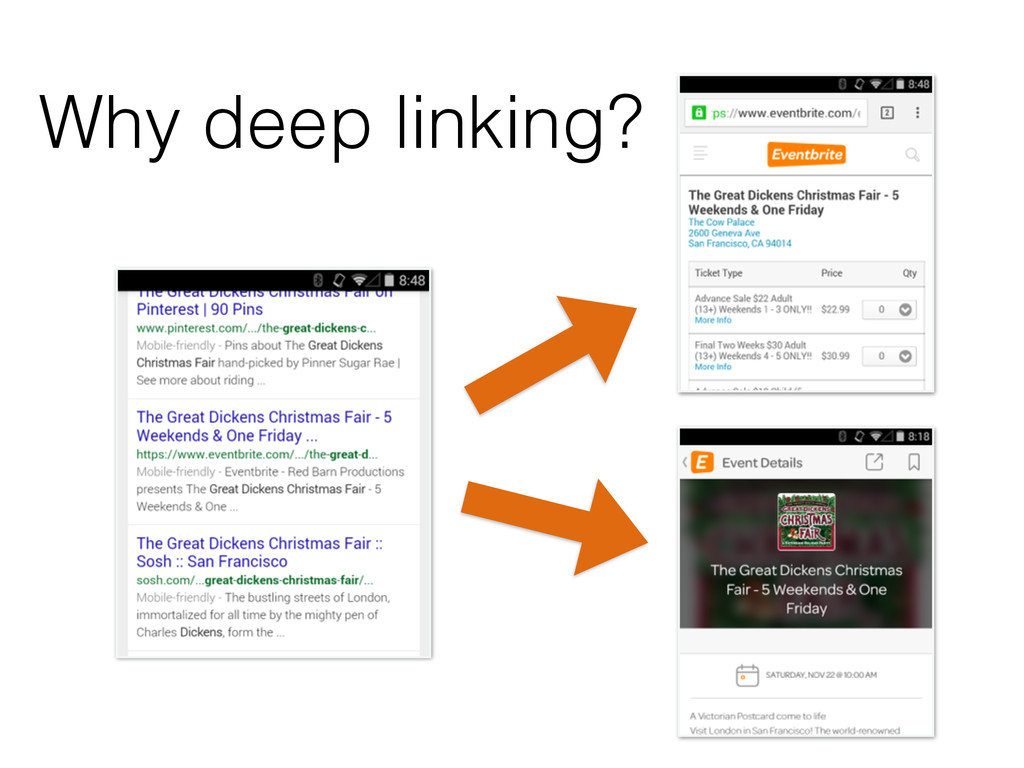 Why deep linking?