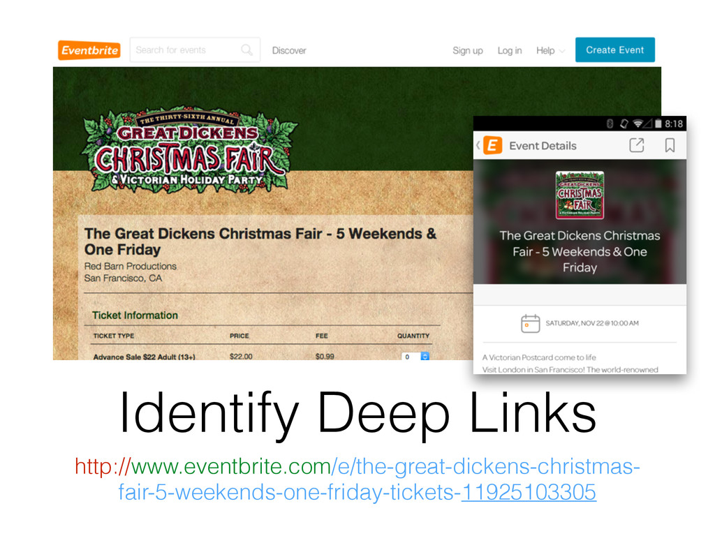 Identify Deep Links http://www.eventbrite.com/e...