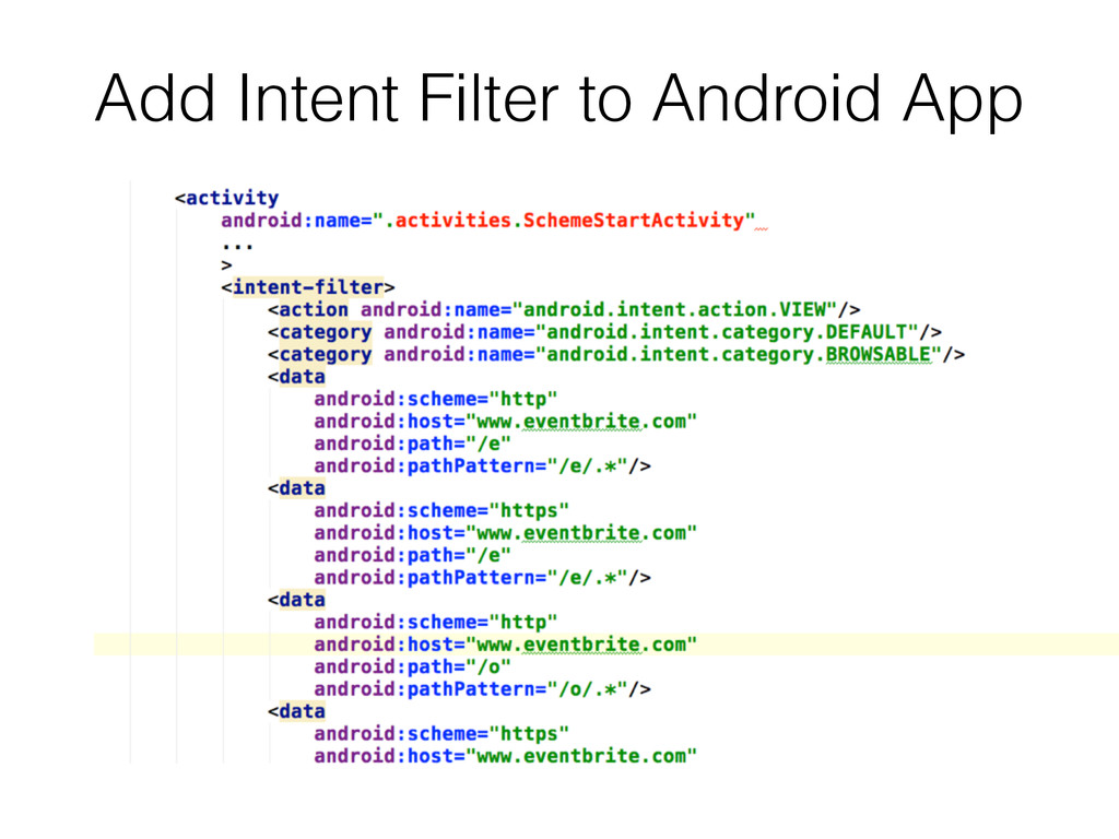 Add Intent Filter to Android App