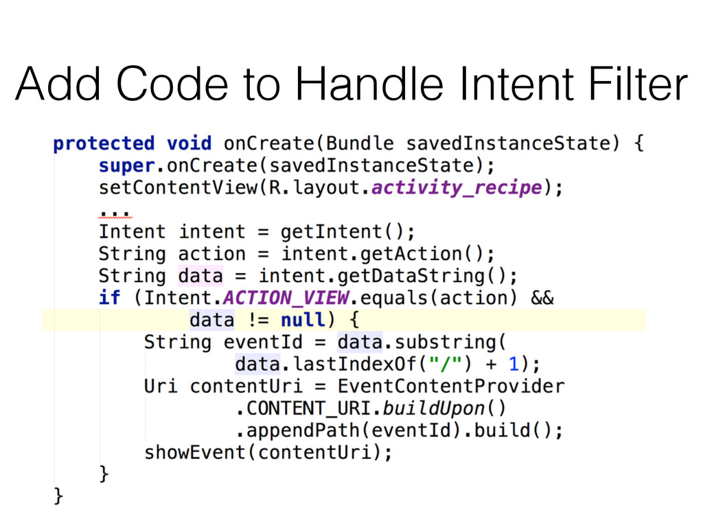 Add Code to Handle Intent Filter